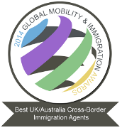 Global Mobility & Immigation Award 2014 - Best UK/Australia Cross-Border Immigration Agents